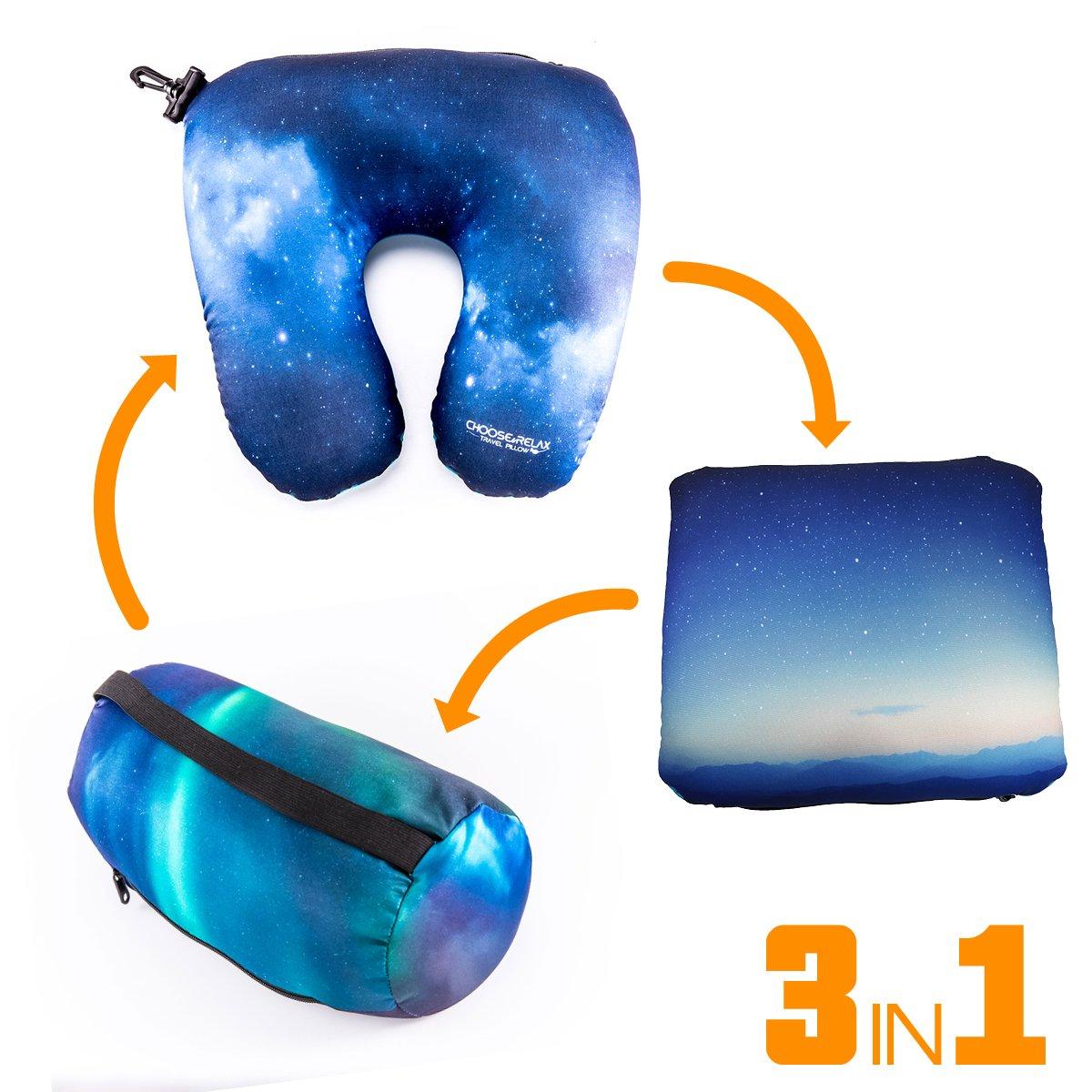 旅行枕(グリーン迷彩) L ブルー  ブルースカイ B0755WL3G4