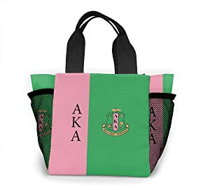 Alpha Kappa Alpha Luch Bag For Women Tote Bag Waterproof Lunch Carry Case Picnic Handbags