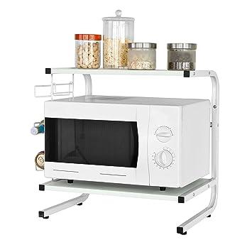 sobuy soporte para microondas estante estantera de cocina miniestante frg
