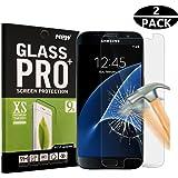 Rockxdays Samsung Galaxy S7 Screen Protector, HD Clear Anti-Scratch, Anti-Fingerprint, Bubble Free, Tempered Glass Screen Protector for Samsung Galaxy S7 - 2 Piece