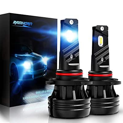 RAMHORN 9005 LED Headlight Bulbs,360 Degree Adjustable Beam 10000Lm 6500K Cool White CREE Chips HB3 Conversion Kit of 2: Automotive