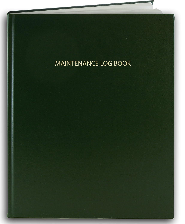 8 x 10 LOG-120-SCS-A-LRT30- Smyth Sewn Hardbound Maintenance 120 Pages BookFactory Maintenance Log Book Red Imitation Leather Cover