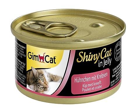 GimCat ShinyCat in Jelly - Comida para gatos adultos, Carne de pollo en gelatina,