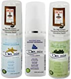 Dr. Mist Cooling, Lavender and Unscented All Natural Spray Deodorant Mist Bundle With Only Water, Salt and Dead Sea Minerals, Aluminum Free, Oil Free, No Coloring or Staining, 1.69 oz (50 ml) each