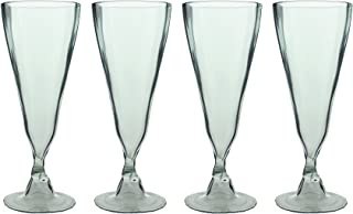 product image for Wine Glasses Made From Recycled Bordeaux Wine Bottles 7 OZ - set of 4 (Clear Champagne, 7.5 Oz)