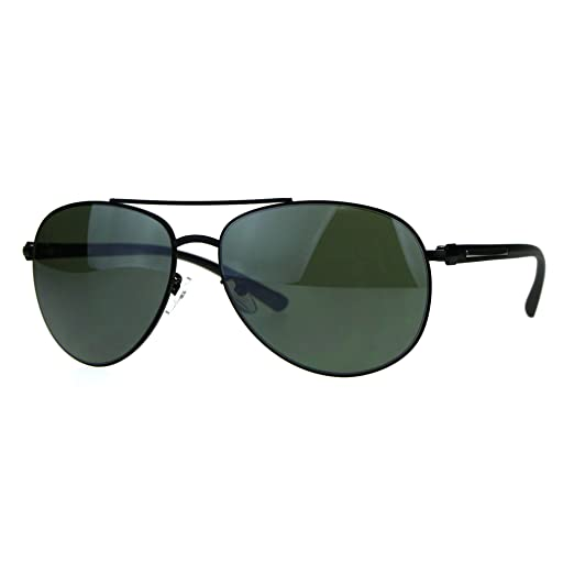 15ceb66550f Designer Exposed Lens Officer Pilots Luxury Fashion Sunglasses Black Green