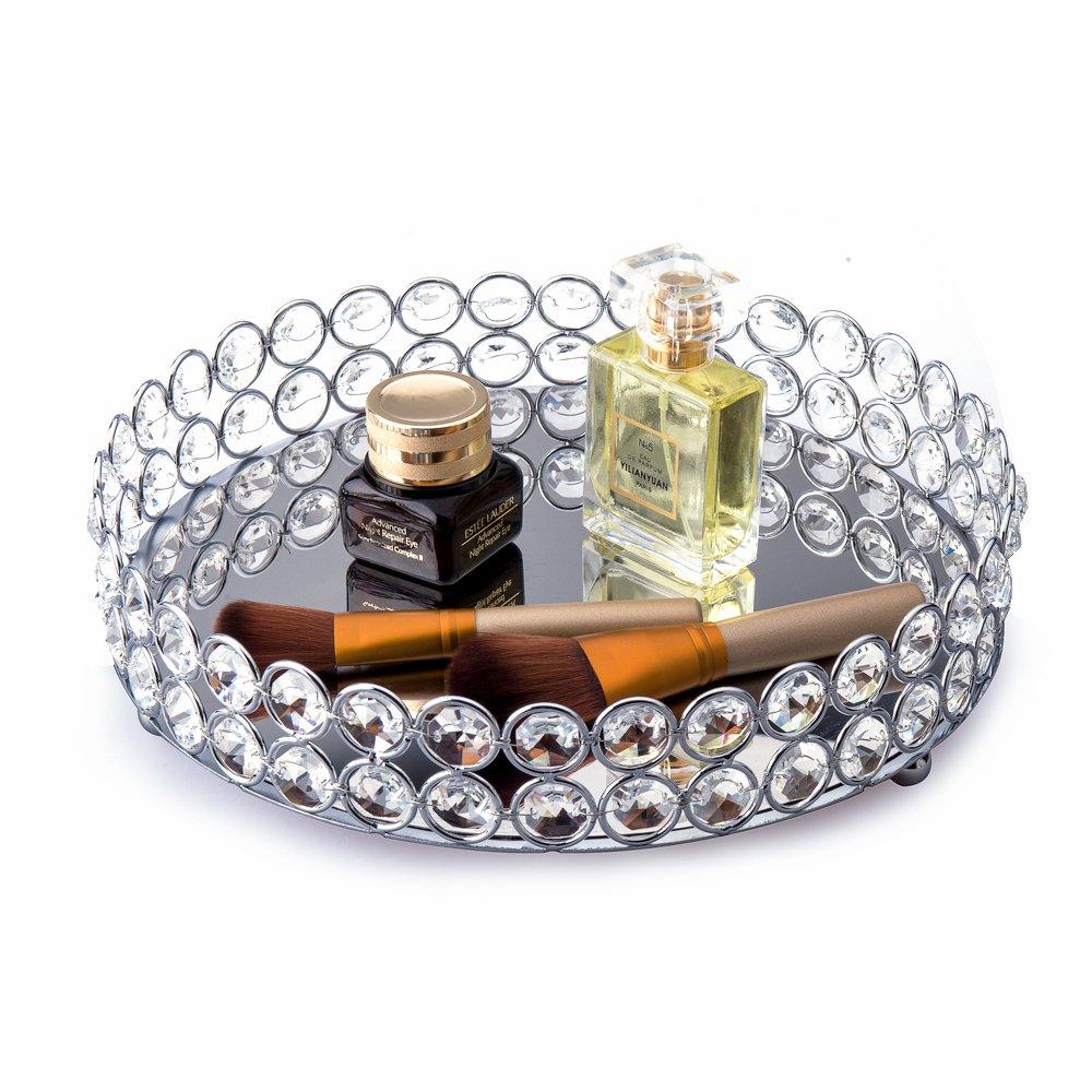 sets tray crystal vanity metal round square buddymantra uk mirror