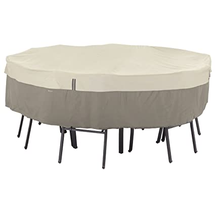 Gentil Classic Accessories Belltown Outdoor Round Patio Table U0026 Patio Chair Set  Cover   Weather And Water