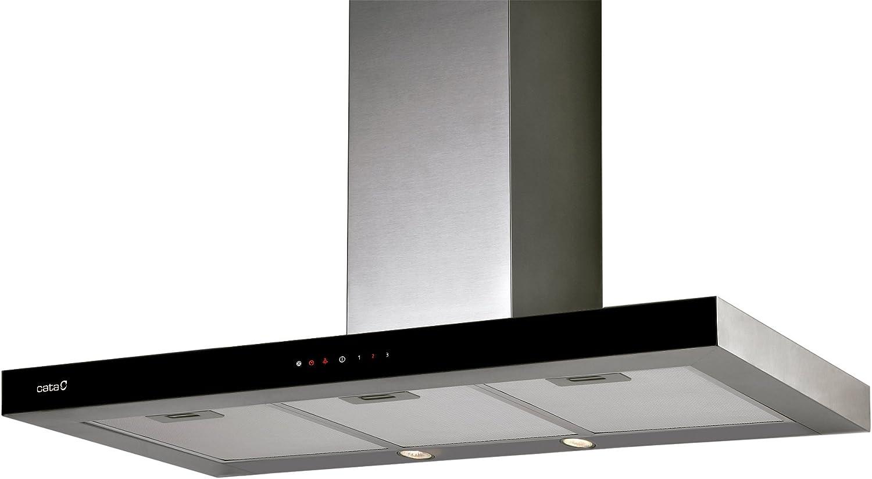 CATA Midas 900XGBK 420 m³/h Negro, Acero inoxidable - Campana (420 m³/h, Canalizado, 51 dB, 59 dB, 63 dB, Negro, Acero inoxidable): Amazon.es: Hogar