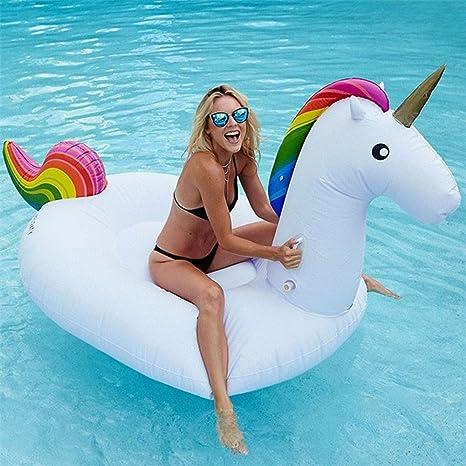 Colorfulworld Inflable Gigante de Unicornio Flotador de para piscina balsa de la fiesta de la piscina