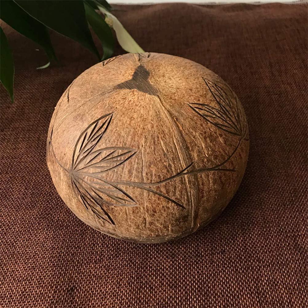 v/ég/étalien fabriqu/é /à la main /écologique Hanwuo Bol en noix de coco biologique bol de service en noix de coco recycl/ée naturel