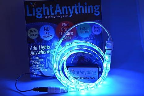 lightanything – Super brillante Portátil Multicolor soporte de tira de luces LED con caja de batería