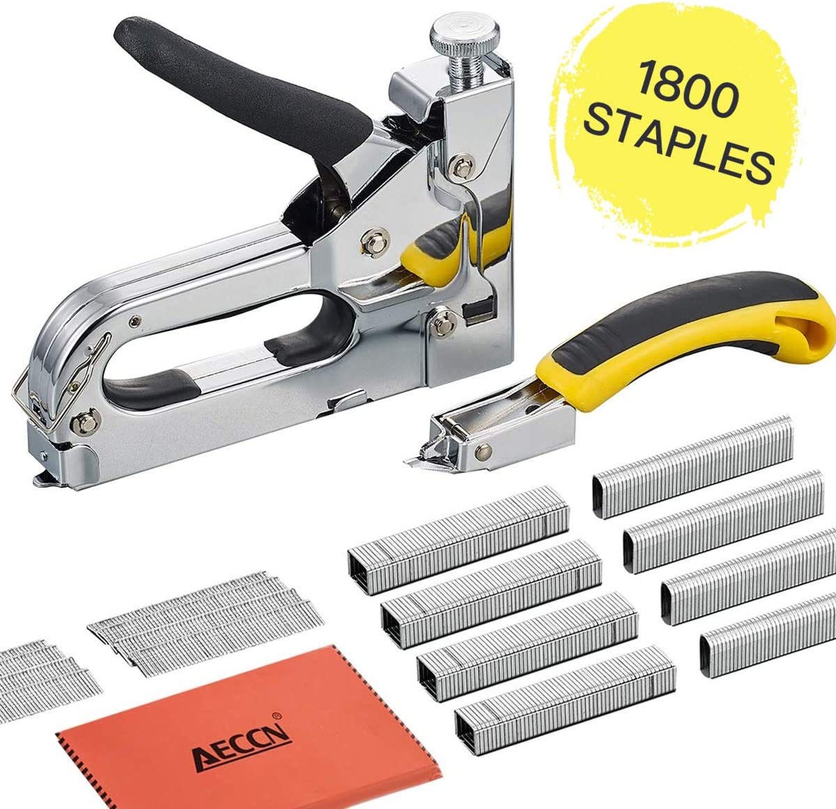 AECCN 3 in 1 Heavy Duty Staple Nail Steel Gun Kit