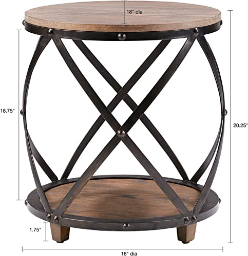 Madison Park Cirque Bent Metal Accent, See Below, Rnd. End Table