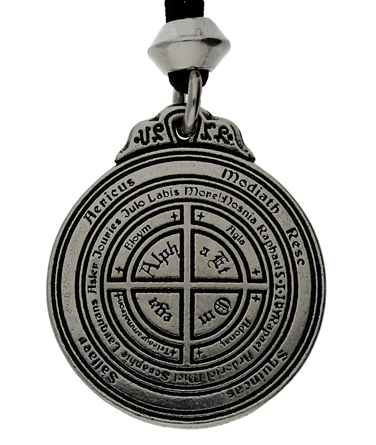 Talisman For Poets, Writers and Actors Pewter Pendant (on Black Cord)