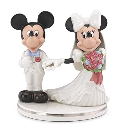 Amazon.com: Lenox Disney Mickey & Minnie Wedding Cake Topper ...