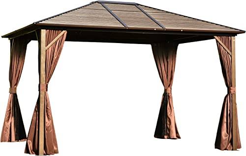 Outsunny 12 x 10 Steel Hardtop Canopy Patio Gazebo