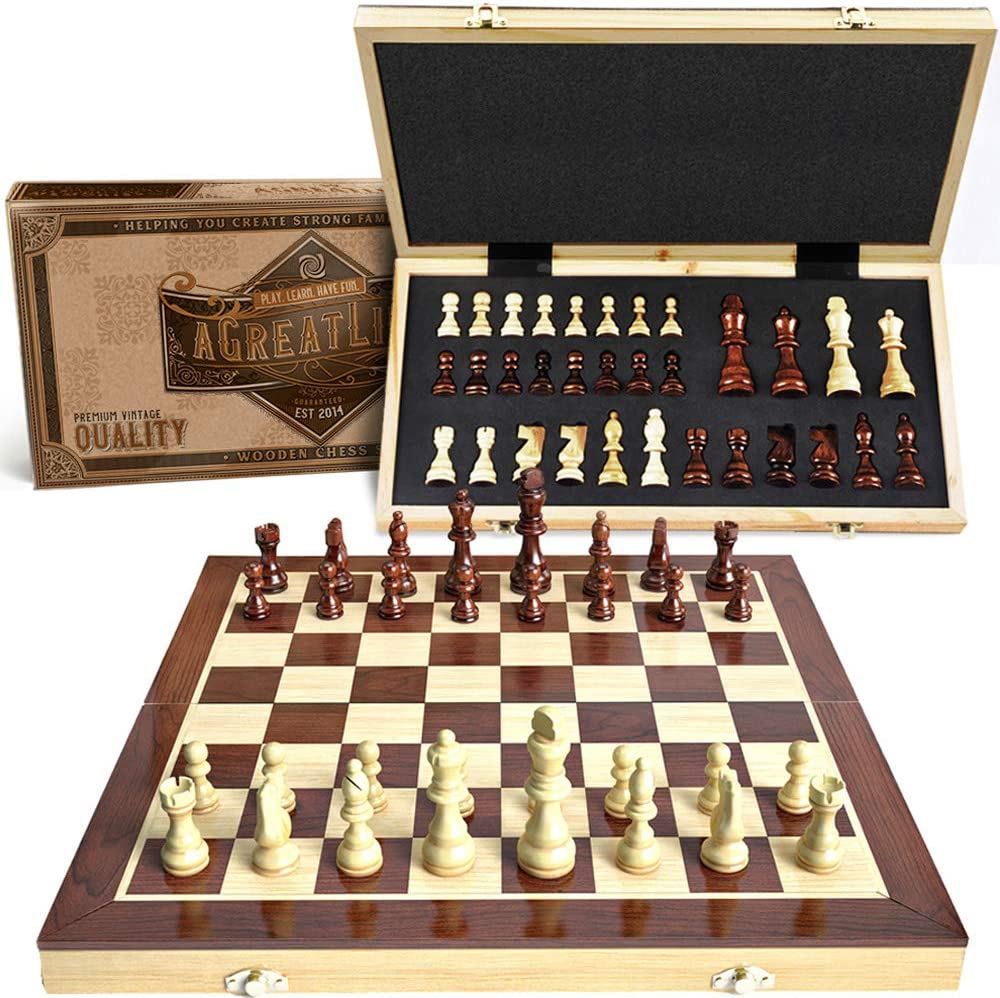 aGreatLife Wooden Chess Set, Buy now, Shop now, available in amazon, Buy agreatlifebrand
