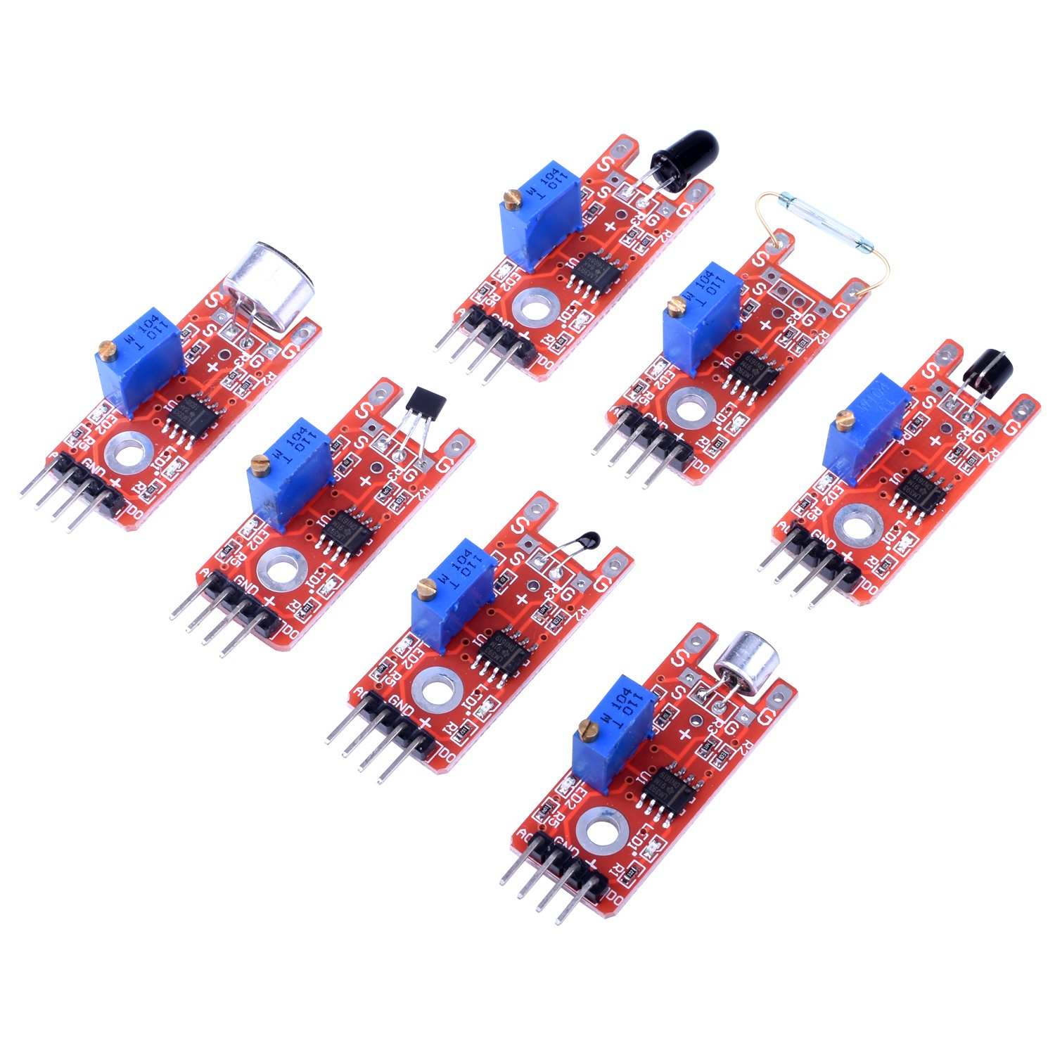 Quimat 39 In 1 Sensor Module Kit With Pdf Tutorialthe Starter Electronic Devices And Circuits Tutorials Robot Projects For Arduino Uno R3 Raspberry Pi 3 2 Mega Due Nano Programming