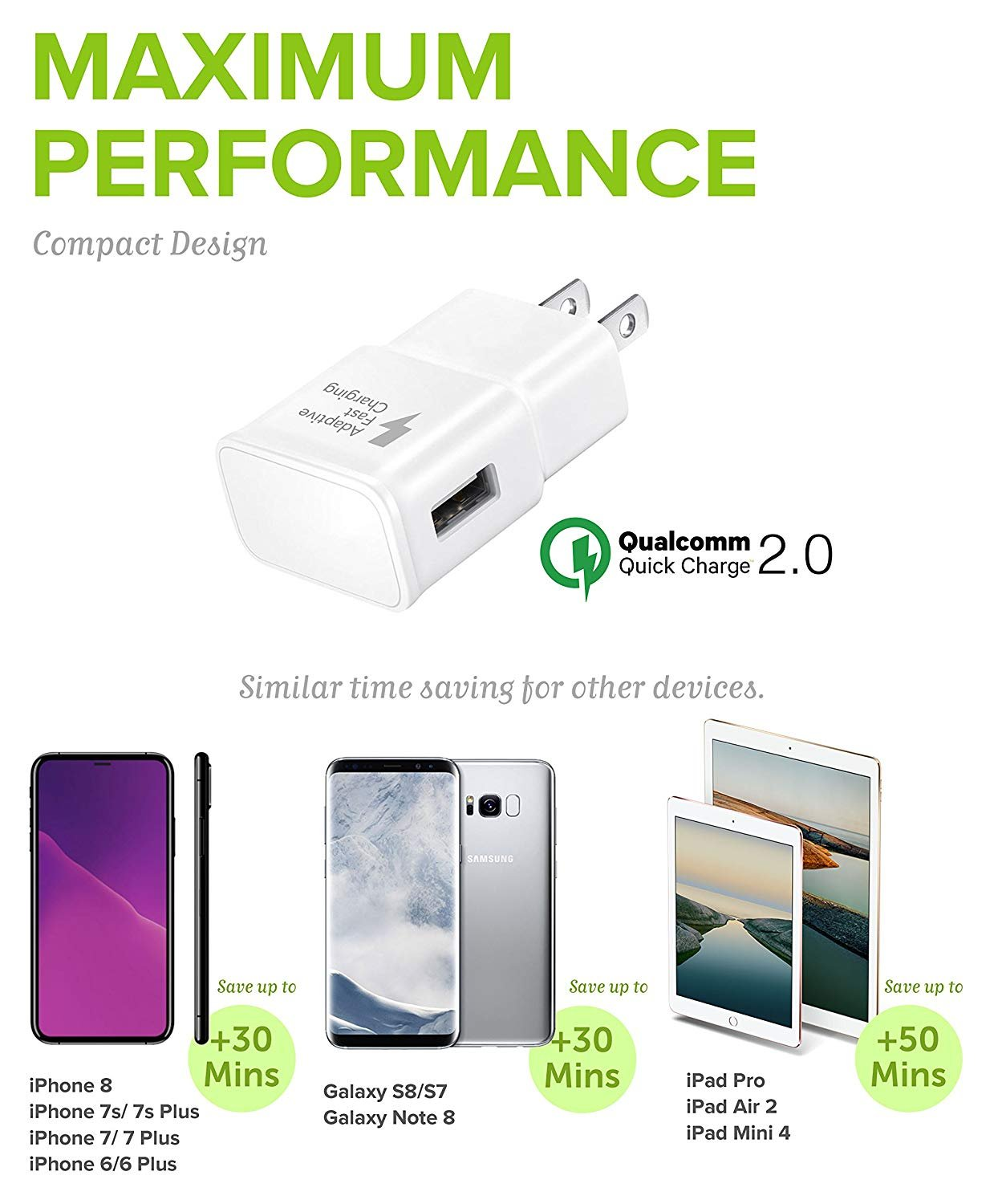 Ixir Fast Wall and Car Charger Set for LG V50 ThinQ, V40, V35, V30, G8, G7, G6, G5, V20, G8, G7, G6, G5 Type C Fast Charger kit, Quick Wall Charger, ...