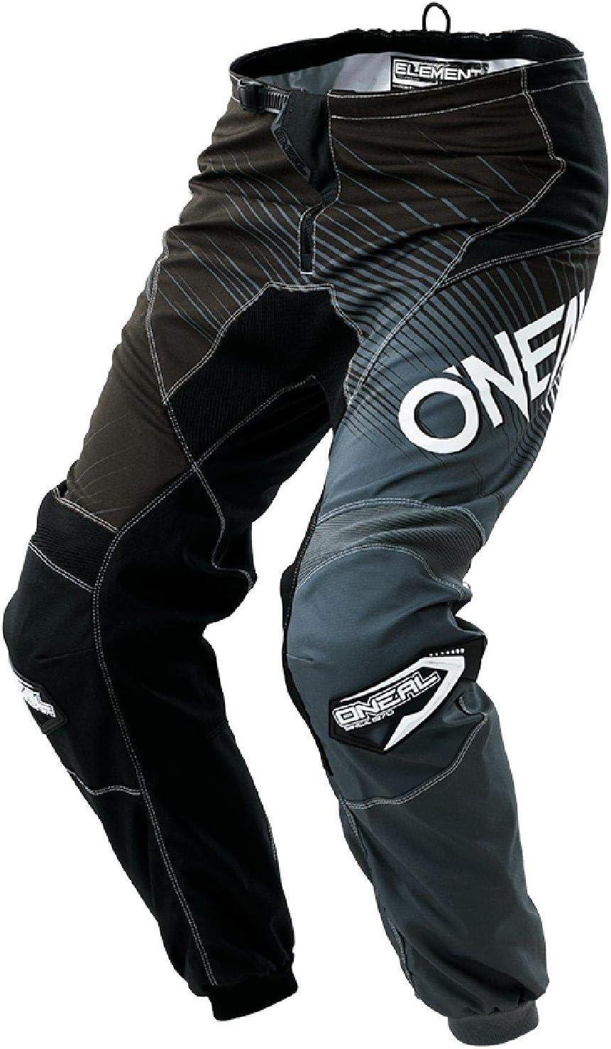 Black//Gray, Size 28 ONeal Unisex-Adult Element Race wear Pant