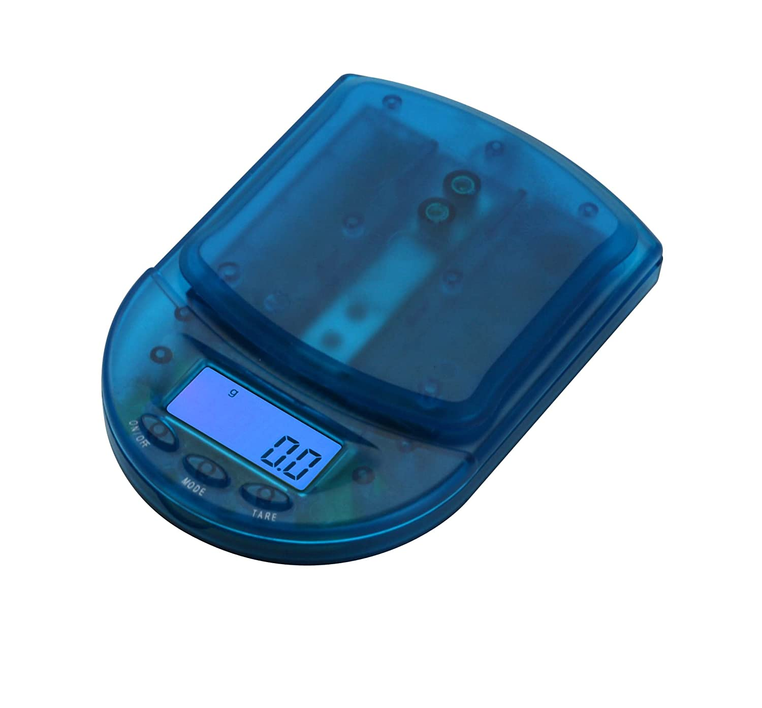 ccf4fb4fe259 American Weigh Scales BCM-650-CB Pocket Size Digital Scale, 650gm Capacity,  Clear Blue