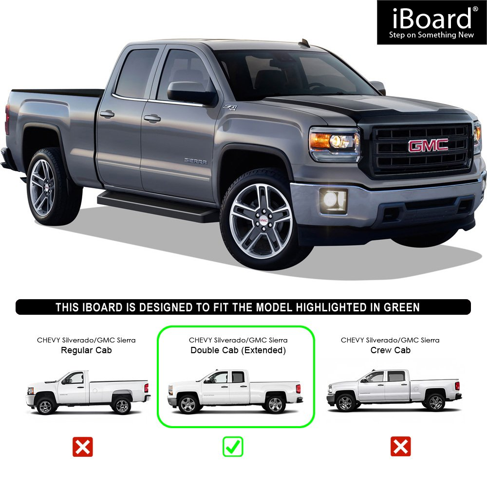 APS IBoard Black Running Boards Style Custom Fit 2007-2018