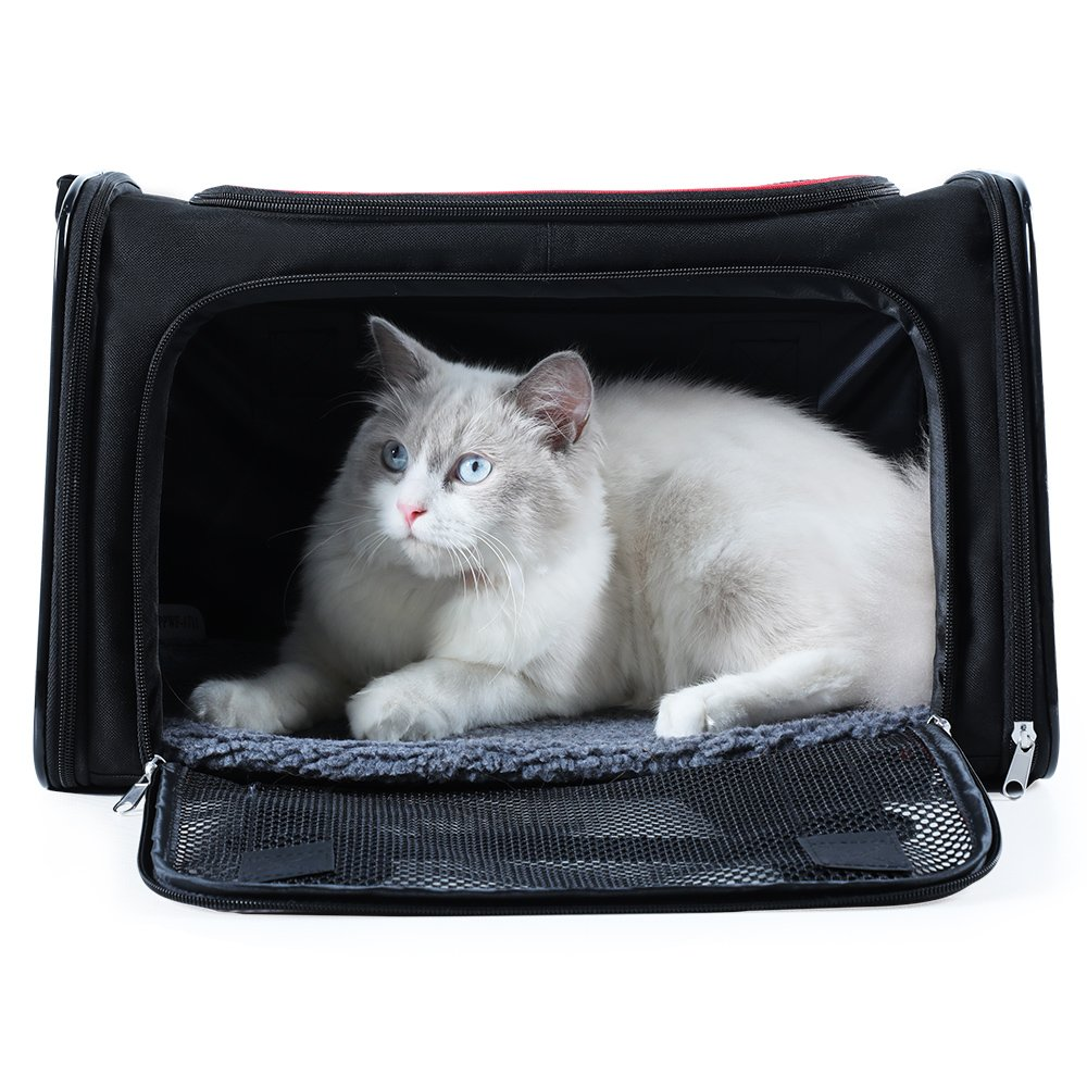 A4Pet Sturdy and Collapsible Airline approved Soft Pet Carrier for Dogs and Cats up to 18 lbs