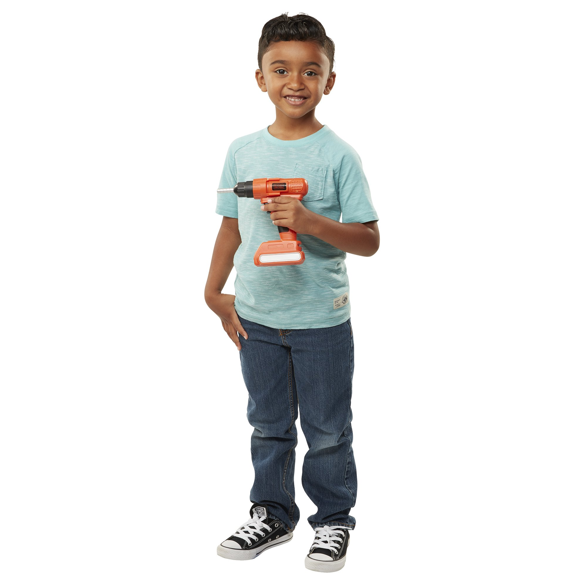 BLACK+DECKER Jr. Electronic Power Drill, Boys, Kids Pretend Play Tool with Realistic Light, Sound & Action! by BLACK+DECKER