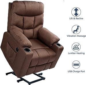 Esright Fabric Power Lift Chair