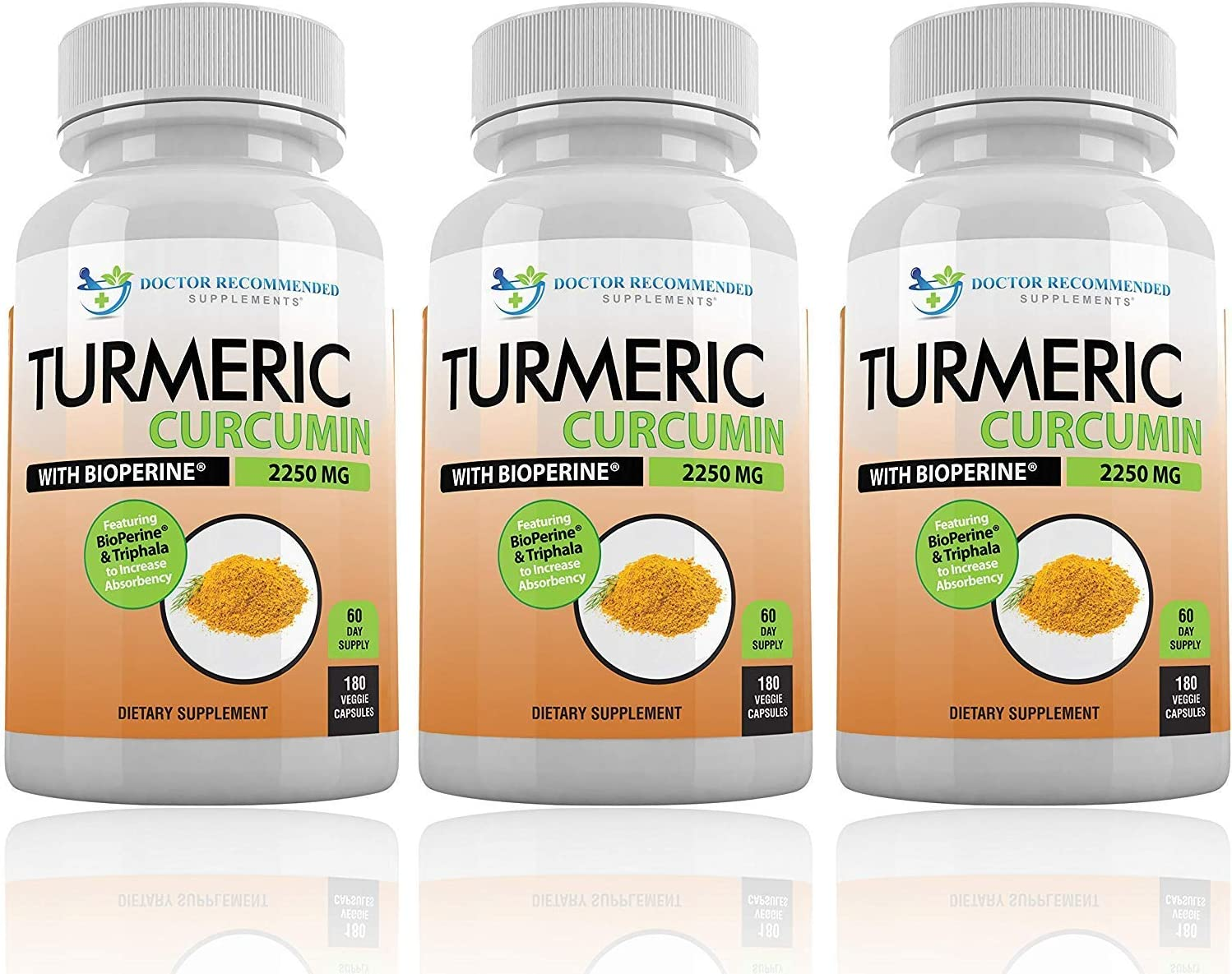 Turmeric Curcumin with Bioperine – 540 Veggie Caps – 2250mg 95 Curcuminoids Highest Max Potency with Black Pepper for Anti-Inflammatory Joint Pain Relief Pills – 100 Organic Supplement with Triphala