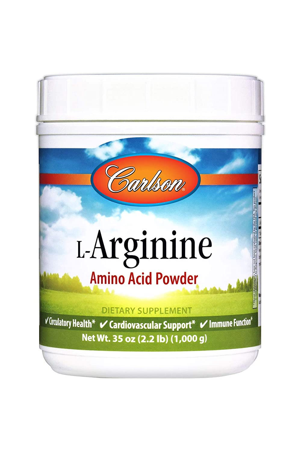 Carlson – L-Arginine, Amino Acid Powder, Circulatory Health, Cardiovascular Support Immune Function, 35 oz 1000 grams