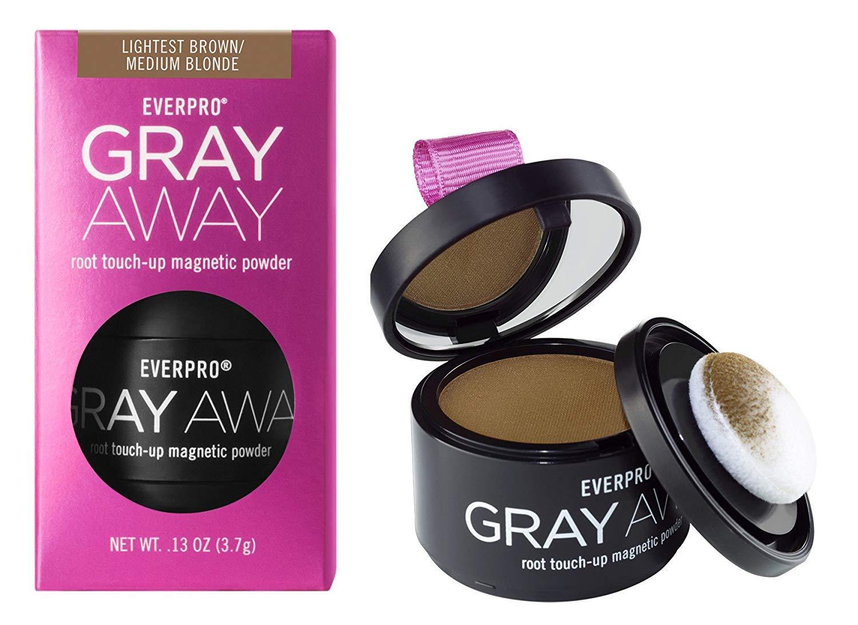Everpro Gray Away Root Touchup Powder Light Brown/Medium Blonde 0.13 Ounce (4ml) (2 Pack) by Everpro
