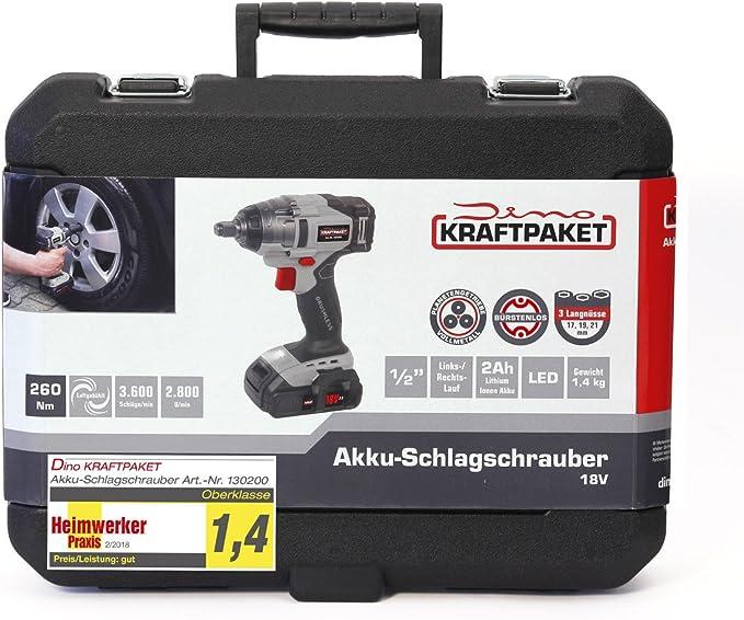 Dino KRAFTPAKET AKKU 18V 2Ah für Schlagschrauber 130200