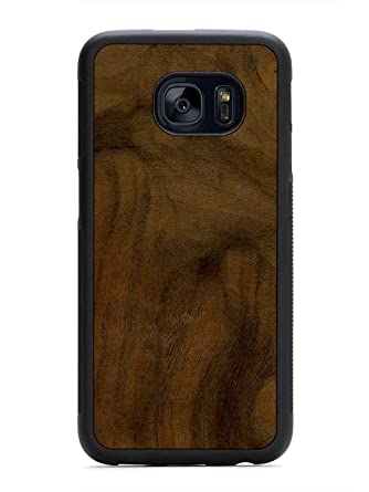 Galaxy S7 Edge Walnut Burl Wood Traveler Case By Carved Unique Real Wooden Phone Cover Rubber Bumper Fits Samsung Galaxy S7 Edge