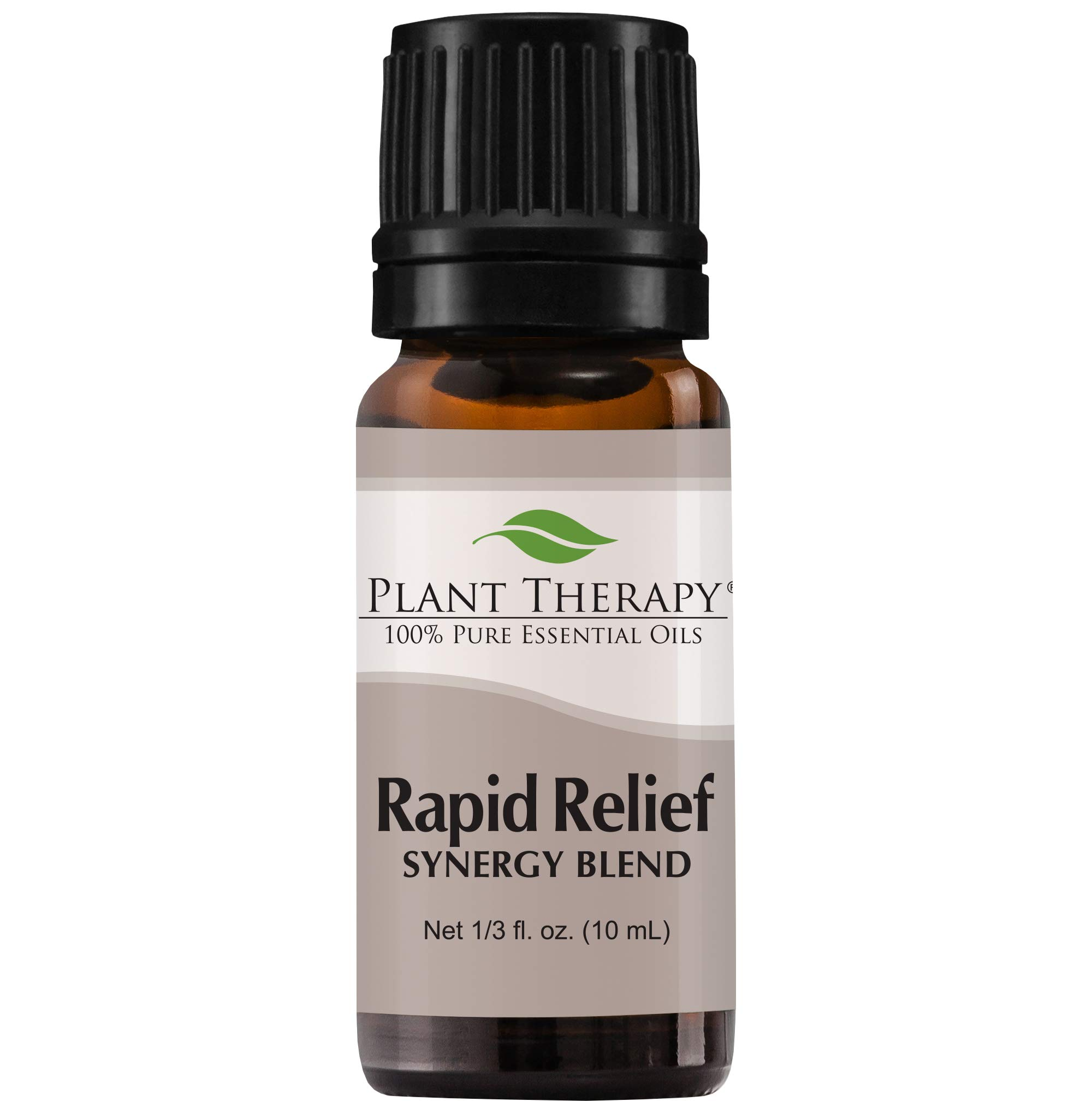 Plant Therapy Essential Oil   Rapid Relief Synergy   Pain and Soreness Blend   100% Pure, Undiluted, Natural Aromatherapy, Therapeutic Grade   10 Milliliter (1/3 Ounce)