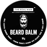 The Real Man Beard Balm 100 Percent Organic Beard Balm and Conditioner, 50g