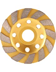 "KKmoon 100mm 4"" Diamond Segment Grinding Wheel Disc Bowl Shape Grinder Cup 22mm Inner Hole Concrete Granite Masonry Stone Ceramics Terrazzo Marble for Building Industry"