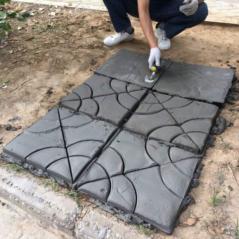 BESTOMZ DIY Molde para Cemento, Molde para Hormigón, Molde para Hacer Pavimentos/Caminos/ Suelos de Jardín, Patio, Balcón, Terraza, de Plástico Resistente ...