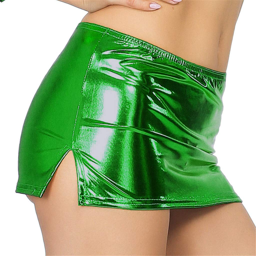 Yoga Bras for Women Plus Size,Women Sexy Leather Underwear Lingerie Patent Leather Night Skirt Sexy,Men's Novelty Hoodies,Green,One Size