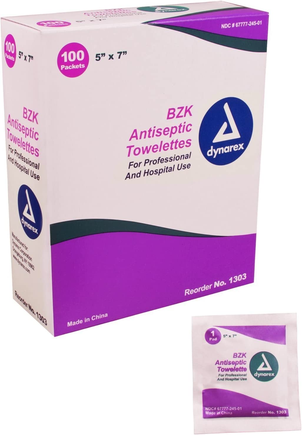 Box Of 100 BZK Antiseptic Towelettes: Health & Personal Care