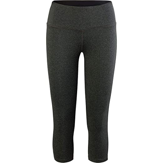 22b2a2ab8293f Vogo Activewear Capri Performance Legging - Women's Black Heather, L at  Amazon Women's Clothing store: