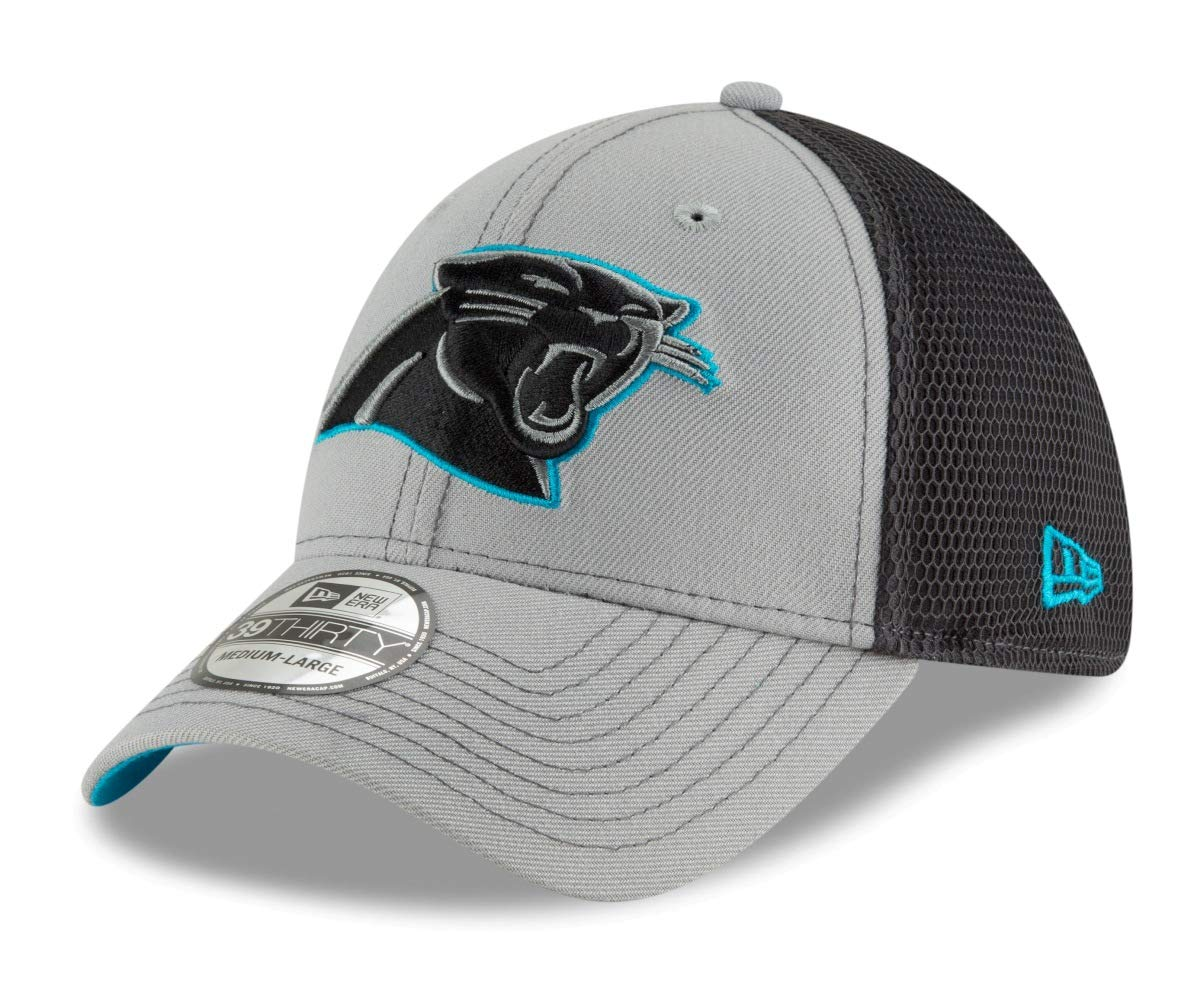 292a1ca5267 Amazon.com   New Era Carolina Panthers NFL 39THIRTY 2T Sided Flex Fit  Meshback Hat - Gray   Sports   Outdoors