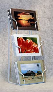 Amazon greeting card holder with 5 pockets wall mounting card photographers edge tabletop rack horizontal pockets for 5 x 7 cards m4hsunfo