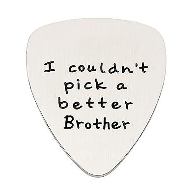 Brother, Gifts - Colgante de púa de Guitarra para Hombre con Texto ...