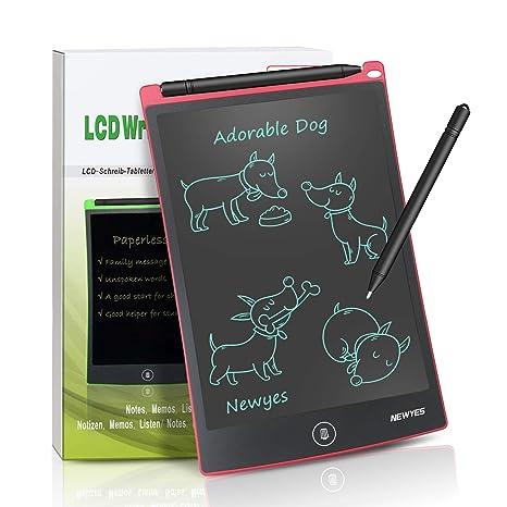 NEWYES NYWT120 Tavoletta LCD da Disegno 12 Pollici Nero Memo Pad Grande Taglia da Ewriter LCD per Tablet da Tavoletta Grafica Compreso 1 Pennino