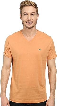aac3bdd7e7 Lacoste Men's S/S Pima Jersey V-Neck T-Shirt
