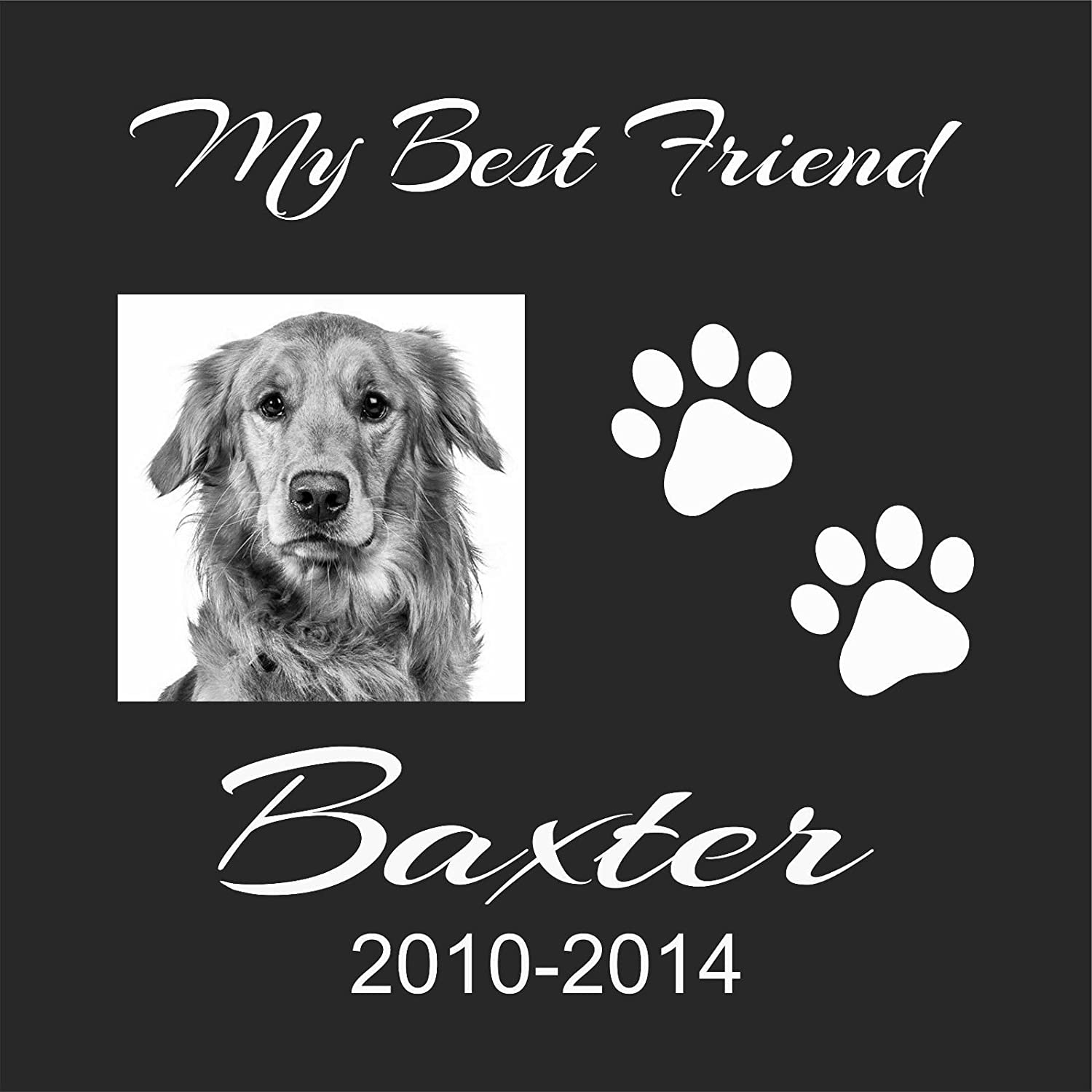 Personalised Pet Stone Memorial Grave Marker Granite Marker Dog Cat Horse Bird Human 12  X 12  Personalized Boxer Chow Chow