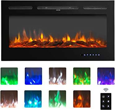 Amazon Com Bahom 36 Electric Fireplace Heater Insert With Tv