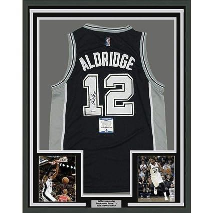 cf29df750 Signed LaMarcus Aldridge Jersey - FRAMED 33x42 Black Beckett BAS COA -  Beckett Authentication - Autographed